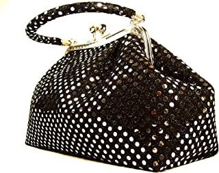 Handbag FabCloud Eve metallic black dot by WiseGloves handbag wallet clutch organiser bag