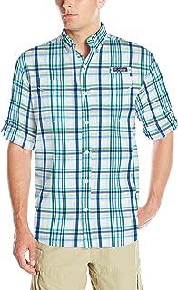 Columbia Men's Super Low Drag Long Sleeve Shirt, Emerald City Open Plaid, X-Large