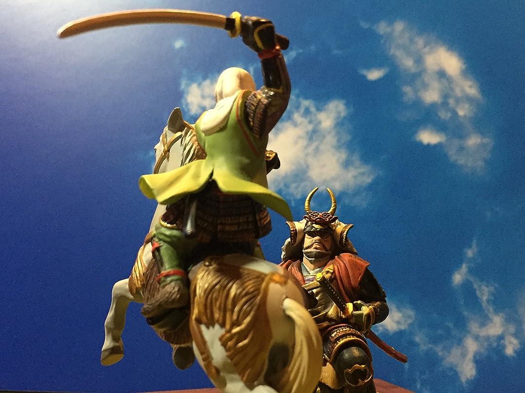である地上の噛む戦国英雄列伝 武田信玄と上杉謙信 川中島の戦い ジオラマ A5サイズ