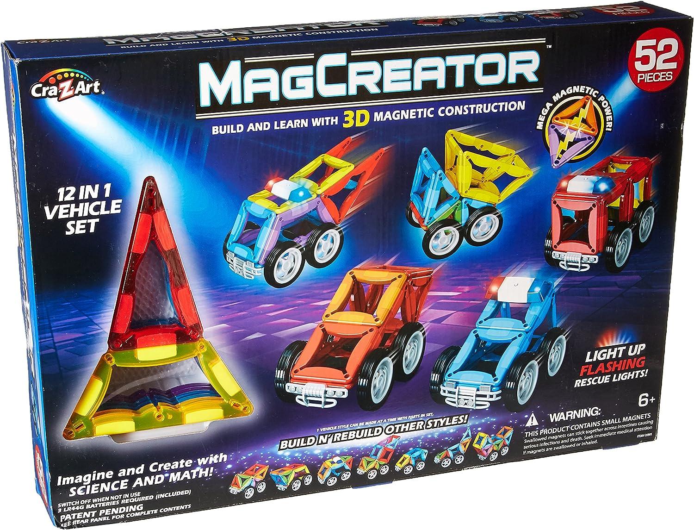 4095ed747005 CraZArt 52Piece Magcreator Vehicle Set Construction Toy nvpsjs7779 ...