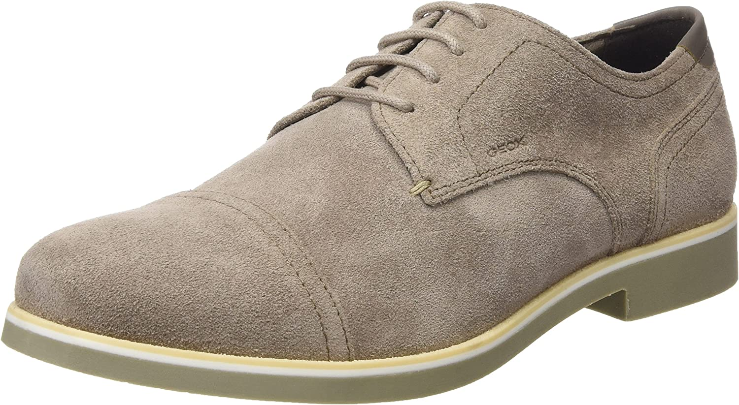 Geox Men's Our shop OFFers the best service Derby Lace-Up Beige 40% OFF Cheap Sale
