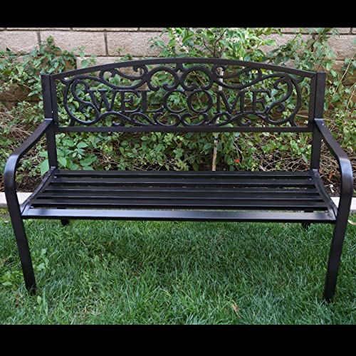 Marvelous Metal Park Benches Amazon Com Squirreltailoven Fun Painted Chair Ideas Images Squirreltailovenorg