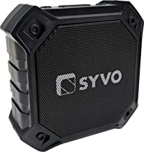 Syvo Sonix Bluetooth 5.0 Wireless IPX4 Super Bass, HD Sound, Aluminium Alloy Portable 3W Bluetooth Speaker with Mic (Black)