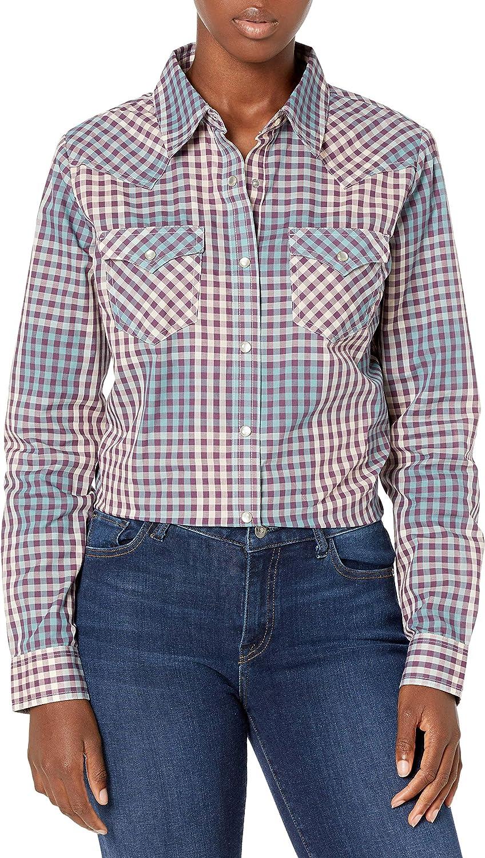 Wrangler Women's Western Long Sleeve Snap Shirt
