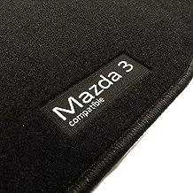 alfombras a Medida esterillas Anclajes Originales Accesorionline Alfombrillas para Mazda 3 2013-2018 Todos los Modelos Juego Completo mazda3