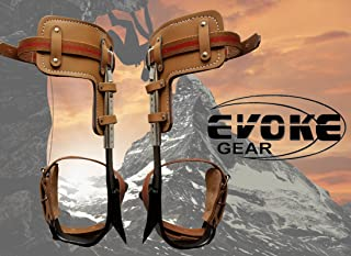 Evoke Gear Tree Climbing Spike Set Pole Climbing Spurs Climber Adjustable