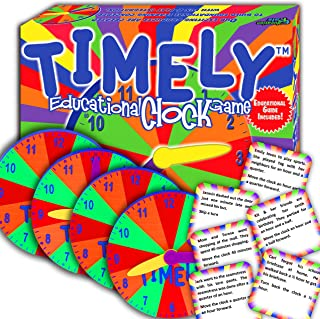 TIMELY - Best Learning Clock & Reading Game - Cool Math Games -Top Educational Play for Boys & Girls. - Perfect for Kids, Family Board Game. - Prime Gift for Elementary School Students.
