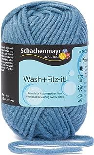Schachenmayr Wash + Fieltro de IT. 9812942–00042Jeans Mano de Tejer Hilo, Fieltro, Lana Virgen