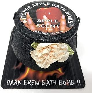 Halloween bath bomb cauldron 4 oz Witches Apple dark brew