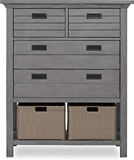 Evolur Waverly Tall Chest with Baskets, Rustic Grey