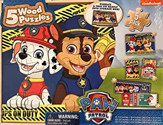 Cardinal Paw Patrol 5 Wood Puzzles in Storage Box