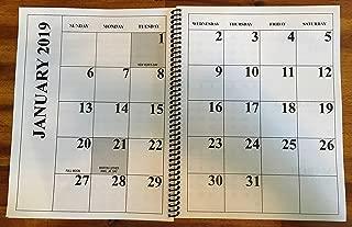 Jumbo Large Print 2019 Desktop Calendar 13-Months - 17