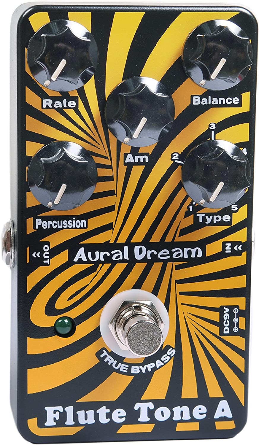 Aural Dream Flute Tone A Synthesizer Guitar Effects Pedal includes harmonic flute,concert flute,theater flute and d'Amour flute with Percussion and Rotary speaker module.