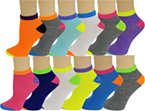 Differenttouch 12 Pairs Pack Women Low Cut Colorful Fancy Design Ankle Socks