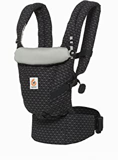 Ergobaby Adapt Baby Carrier, Infant to Toddler Carrier, Pearl Grey, Multi-Position, Premium Cotton, Geo Black