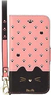 iPhone8/7/6s/6兼用手帳型ケース Minette Pink-Black iP7-MIN07