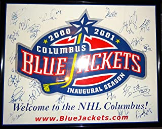 Signed Inaugural Blue Jackets Poster +1st Program Entire Team Only One  Completed 0ec91b8d62fe