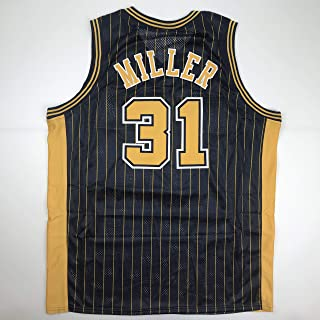 Unsigned Reggie Miller Indiana Blue Custom Stitched Basketball Jersey Size Men's XL New No Brands/Logos