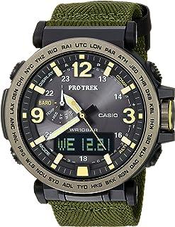 Men's 'PRO TREK' Quartz Resin and Cloth Casual Watch, Color:Green (Model: PRG-600YB-3CR)