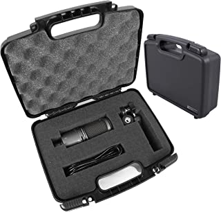 TOUGH Cardioid Condenser Microphone Hard Case with Dense Foam for Audio-Technica AT2020 / AT2020USB / ATR2500-USB / AT2035...