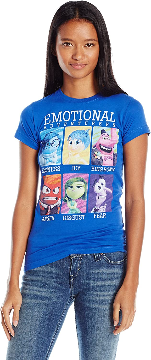 Disney Womens Inside Out Yearbook Graphic Tee TShirt