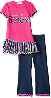 Girls' Holiday Dress and Legging Set