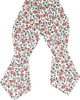 DAZI Men's Bow Tie, Floral Print Bowtie, Great for Weddings, Groom, Groomsmen, Missions, Dances, Gifts.