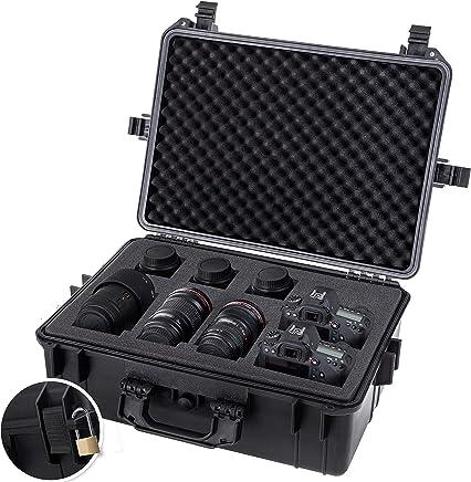 KESSER® Kamerakoffer unisversal, wasserdicht, Outdoor, wetterfester, staubdichter, Koffer, Fotokoffer mit Einlage für Kamera Objektive und Zubehör,