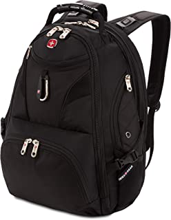 SWISSGEAR 5977 ScanSmart Laptop Backpack | Fits Most 17 Inch Laptops and Tablets | TSA Friendly Backpack | Ideal for Work, Travel, School, College, and Commuting- Black