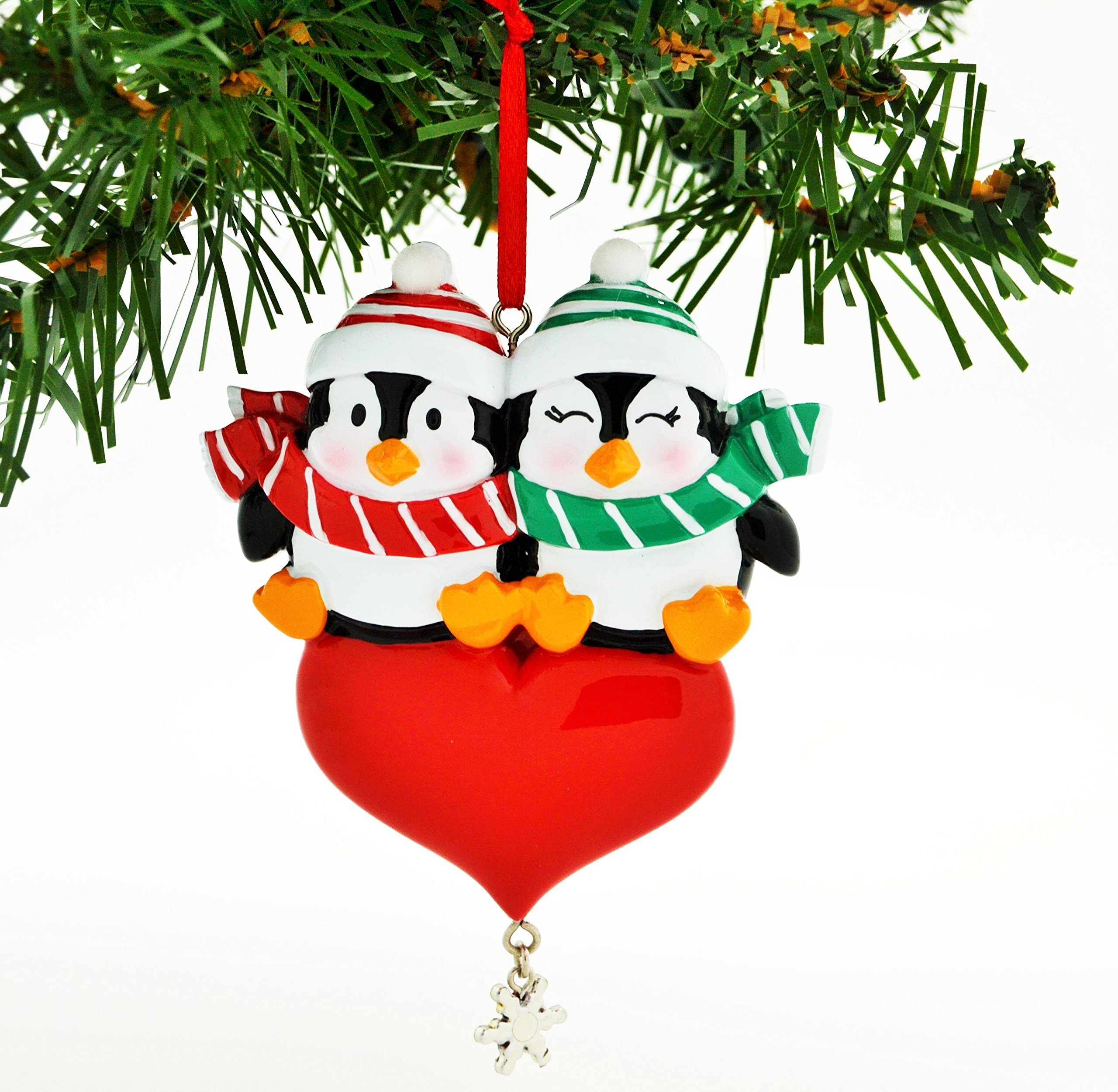 Image of Personalized Christmas Penguin Ornament