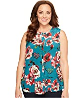 Lucky Brand - Plus Size Green Floral Tank Top