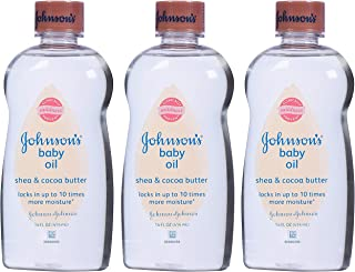 JOHNSON'S Baby Oil Shea & Cocoa Butter 14 oz (Pack of 3)