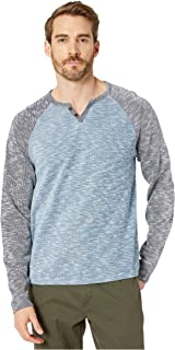 Lucky Brand Men's Long Sleeve Color Block-Button Up Notch Neck Shirt