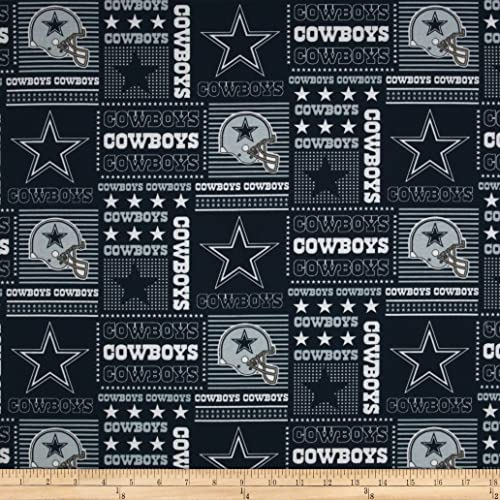Fabric Traditions NFL Cotton Broadcloth Dallas Cowboys Patchwork Blue White  Fabric by The Yard a2b75dfa0