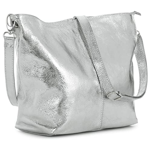 LiaTalia Women s Bag – Genuine Leather Bag – Medium Hobo Shoulder Bag –  Made with 100 4f0e91240f
