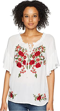 Omalley Beautiful Embroidered Summer Top