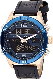 Naviforce Men's Blue Dial Genuine Leather Analogue Classic Watch - NF9128-RGBEBE