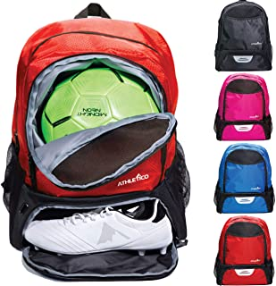 Athletico Youth Soccer Bag - Soccer Backpack & Bags for Basketball, Volleyball & Football | Includes Separate Cleat and Ba...