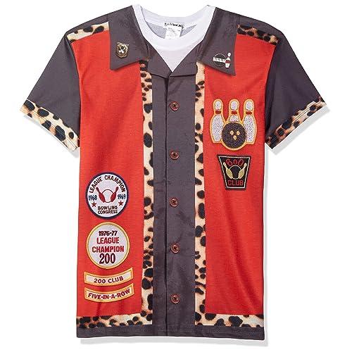 aa6fadbd3 Faux Real Mens Standard Bowling Shirt Printed T-Shirt