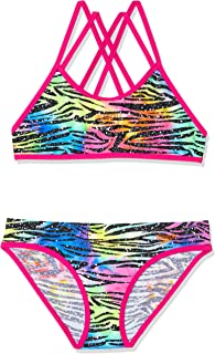 Speedo Girls' GLITTER SKIN DOUBLE CROSSBACK CROP SET