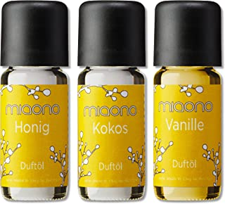 Duftoel Vanille, Kokos, Honig von miaono - feines Aromaoel Set - Duftöl für den Aroma Diffuser und die Duftlampe 3er Set 3x10ml