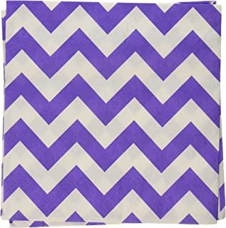 Chevron Lunch Napkins New Purple