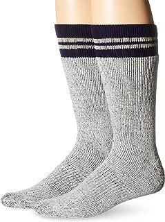 Men's 2 Pack Wool Blend Boot Crew Socks