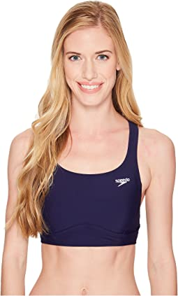 Solid Aqua Elite Swim Top