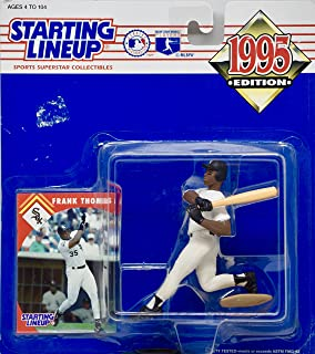 Starting Lineup 1995 - Kenner MLB - Frank Thomas #35 Action Figure - Chicago White Sox - w/ Trading Card - Out of Production - New - Mint - Rare - Limited Edition - Collectible