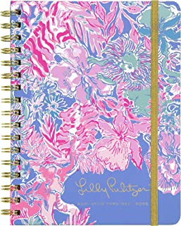 "$22 » Lilly Pulitzer 17 Month Monthly Hardcover Planner, 8.25"" x 5"", Monthly Overview Layout for Aug. 2019 - Dec. 2020, Viva La Lilly"
