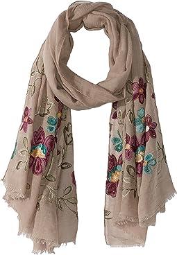 Bindya - Floral Embroidered Scarf