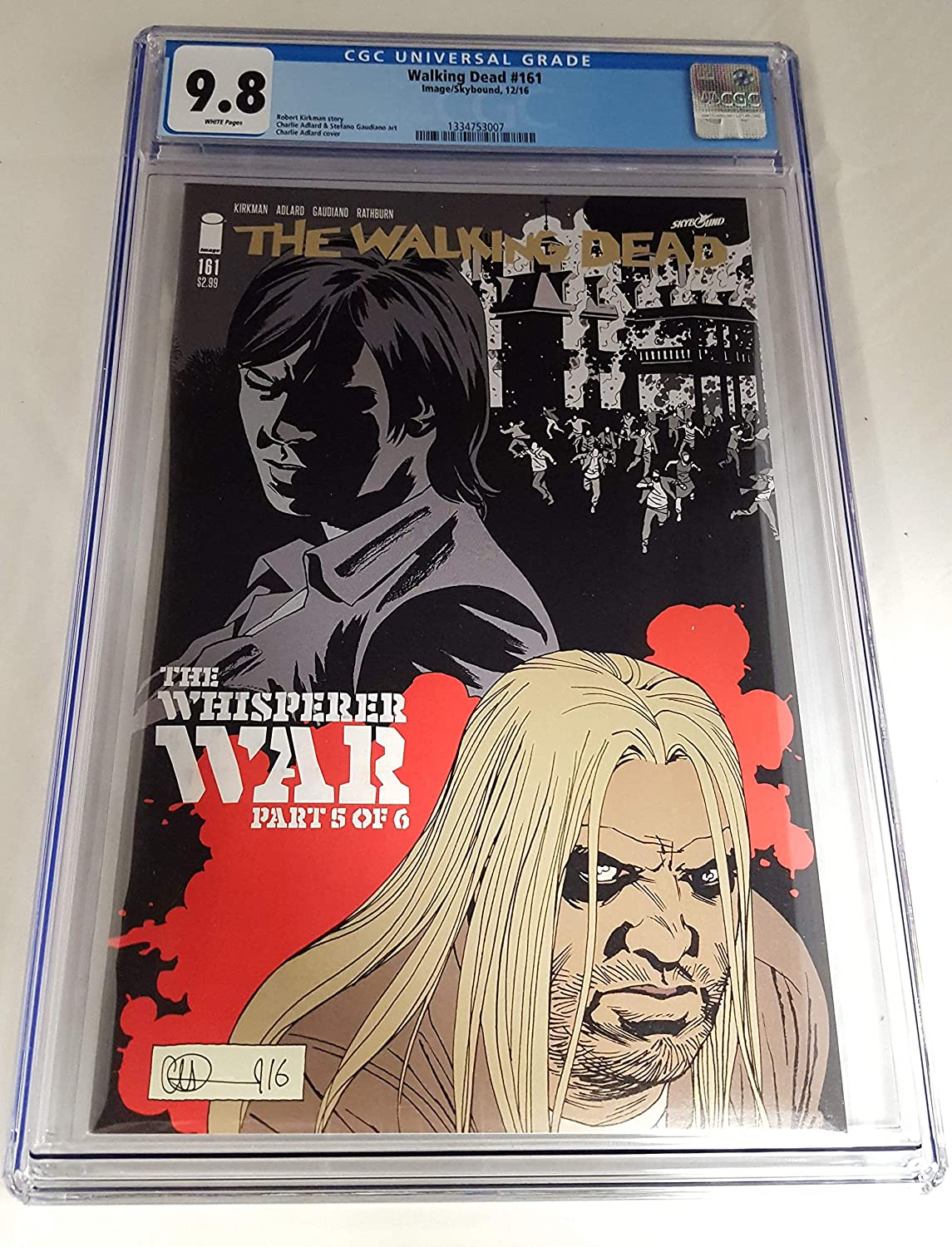 CGC 9.8  THE WALKING DEAD  161A  ADLARD COVER