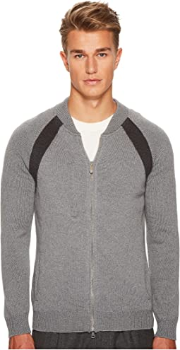 Raglan Sleeve Zip College Sweater