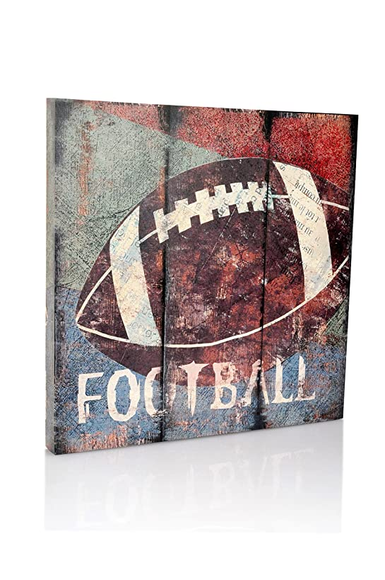 Football Sports Canvas Wall Art   Boys Bedroom Décor   Kids Room   Vintage Sports Art   Football Decor   for Sports Room & Game Room   Great Gift   Large Size 18